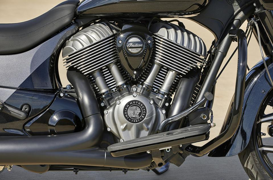 Indian Chieftain Elite touring motorcycle engine motor