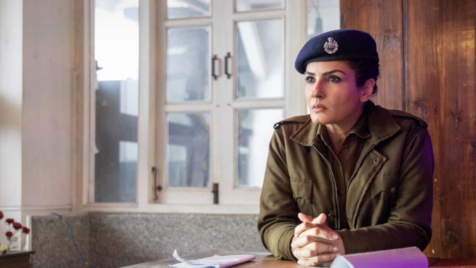 Raveena Tandon is seen as a cop in this Netflix original.