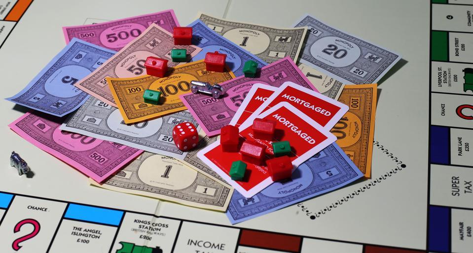 Monopoly Money & Game Pieces