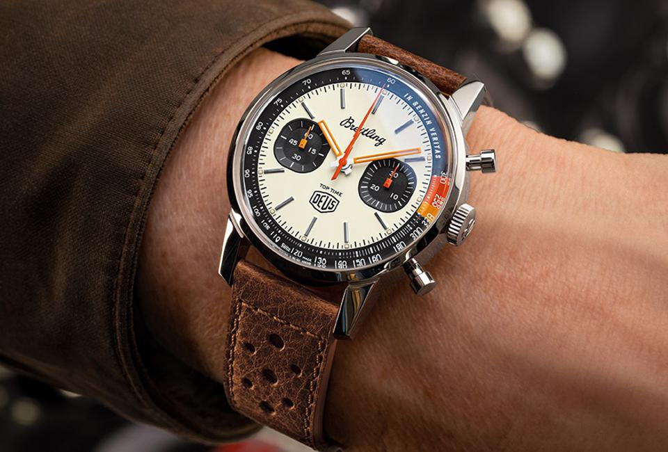 The Breitling Top Time Deus LImited Edition.