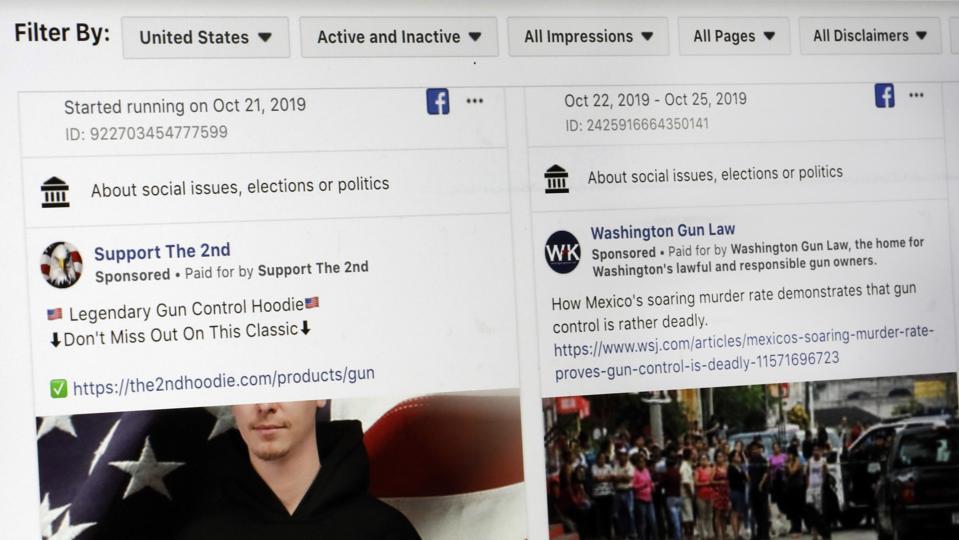 Political Ad Bans-Facebook