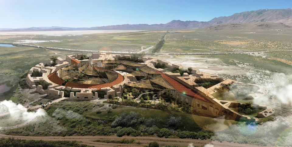 Evolving Community in Oasis uses low temperature pyrolysis to reduce waste streams while providing power to a series of multipurpose spaces with interactive experiences and fertilizer to agricultural fields. Shortlisted proposal to the LAGI 2020 Fly Ranch Design Challenge.