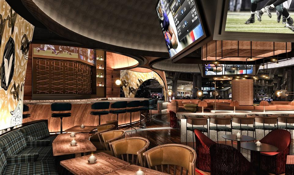 Upscale Stadia sports bar, new in Caesars Palace Las Vegas