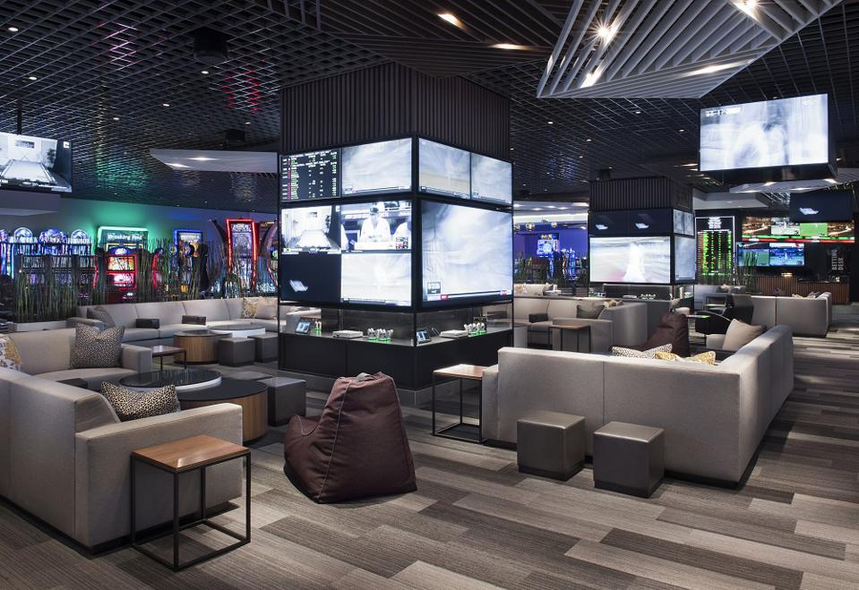 Fan Caves in the sportsbook at LINQ casino resort Las Vegas