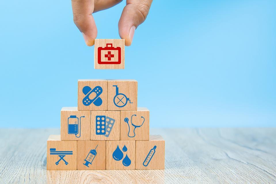 Blocks symbolizing healthcare concept