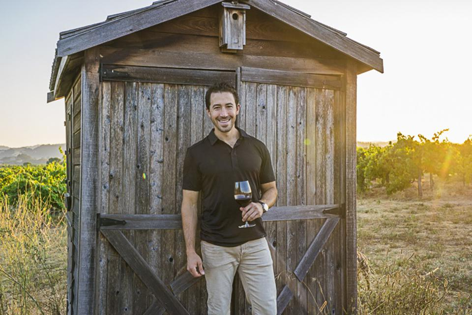 Jesse Katz in the Aperture Vineyards in Sonoma, California