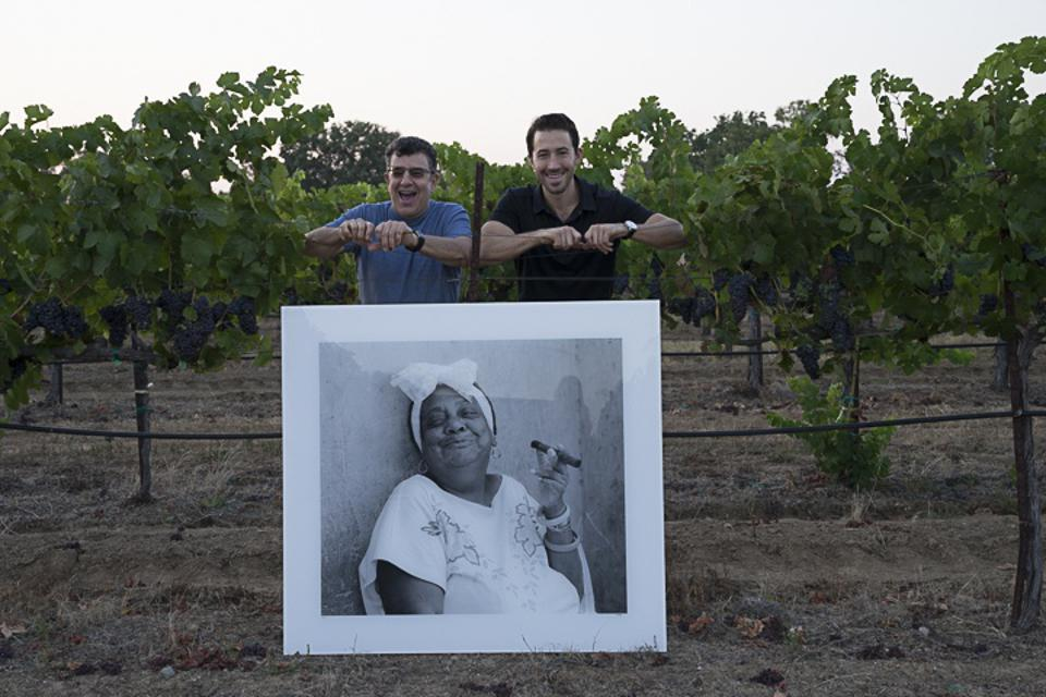 Andy Katz and Jesse Katz in Aperture Vineyards with Andy's Devil Proof Photo