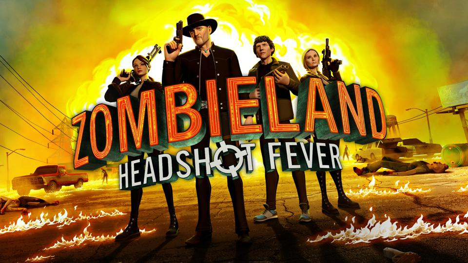 Zombieland VR: Headshot Fever logo with Columbus, Little Rock, Wichita and Tallahassee.