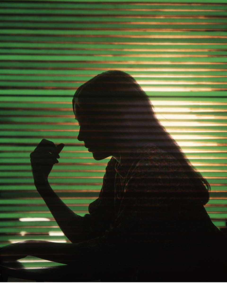 This a photo of a silhouette of a student.