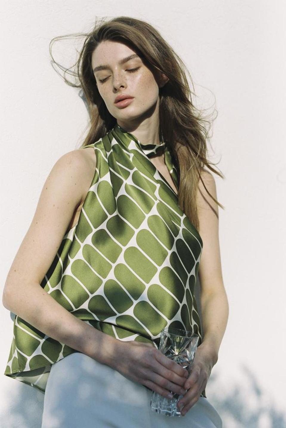 Leila Silk Top by MICU