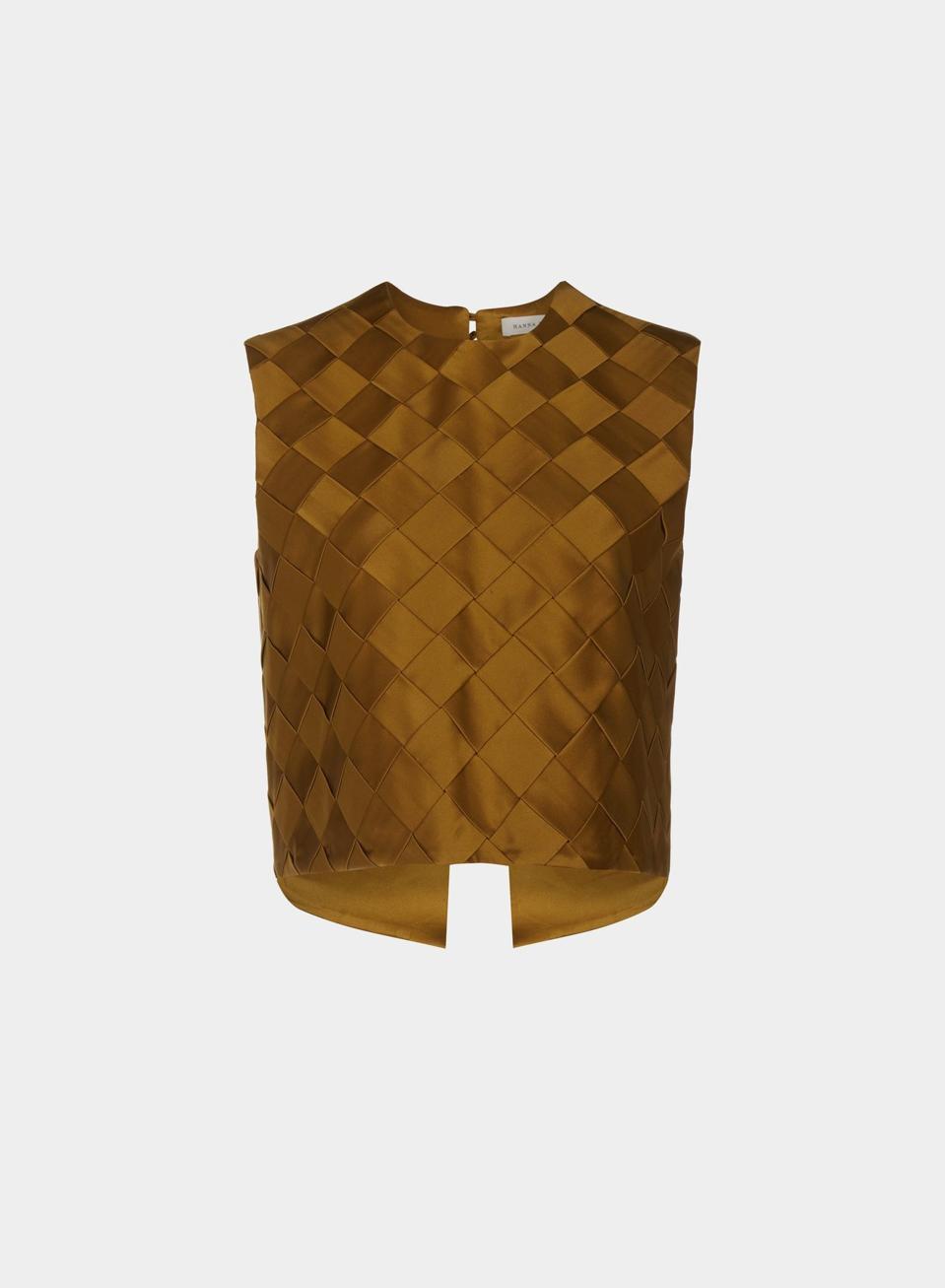 Silk woven Leo top by HANNAH FIELDER