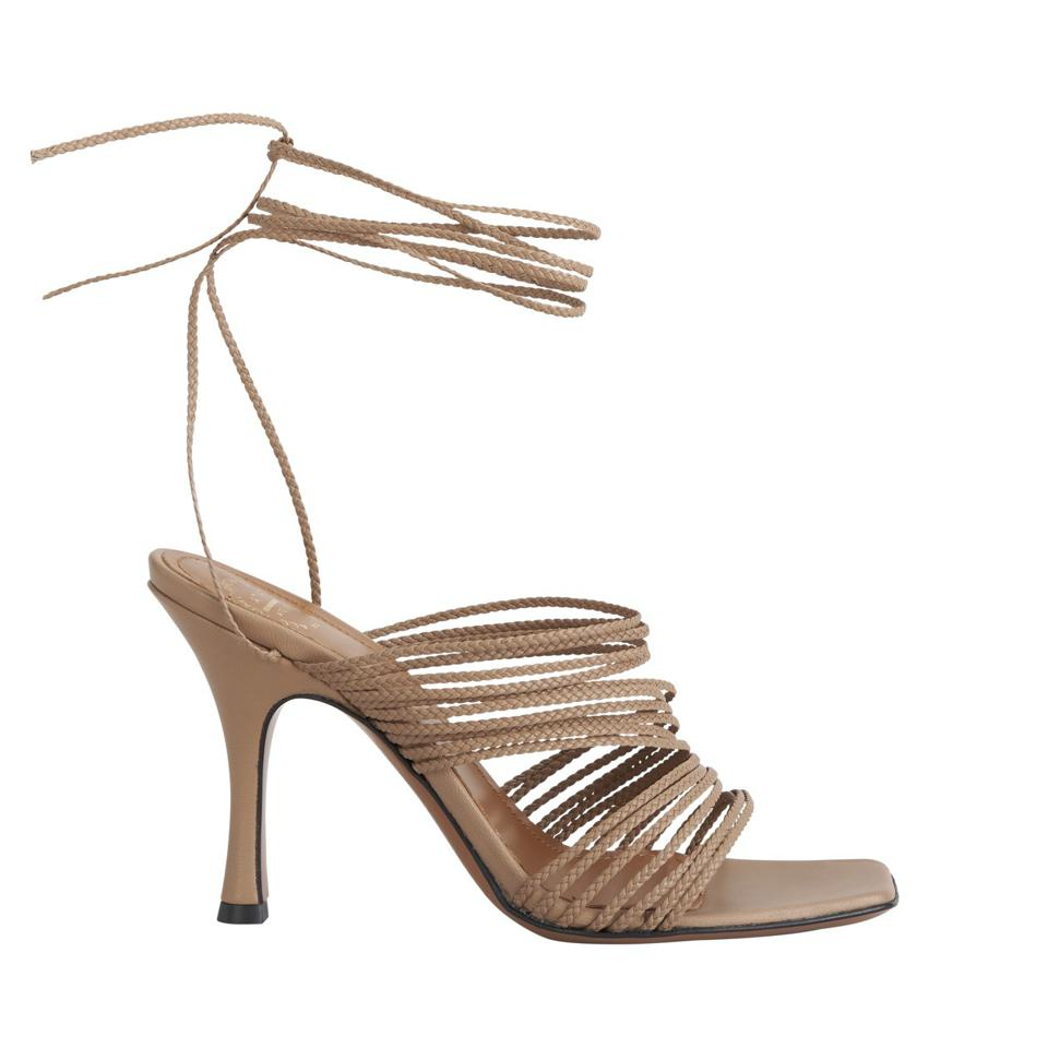 Manacorra Strappy Sandals in Almond by ATP ATELIER