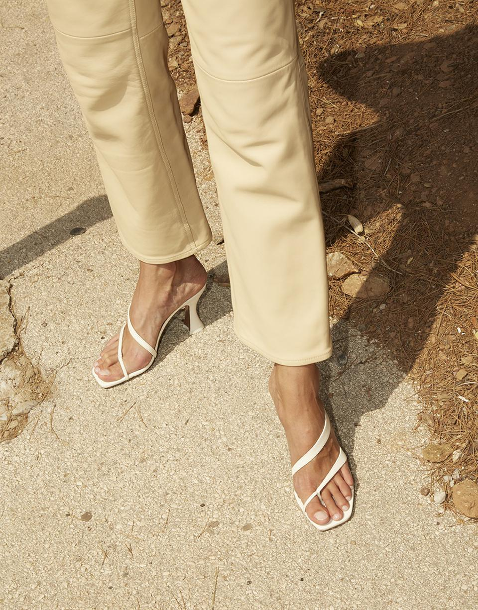 Silka strappy sandals in cream by NEOUS