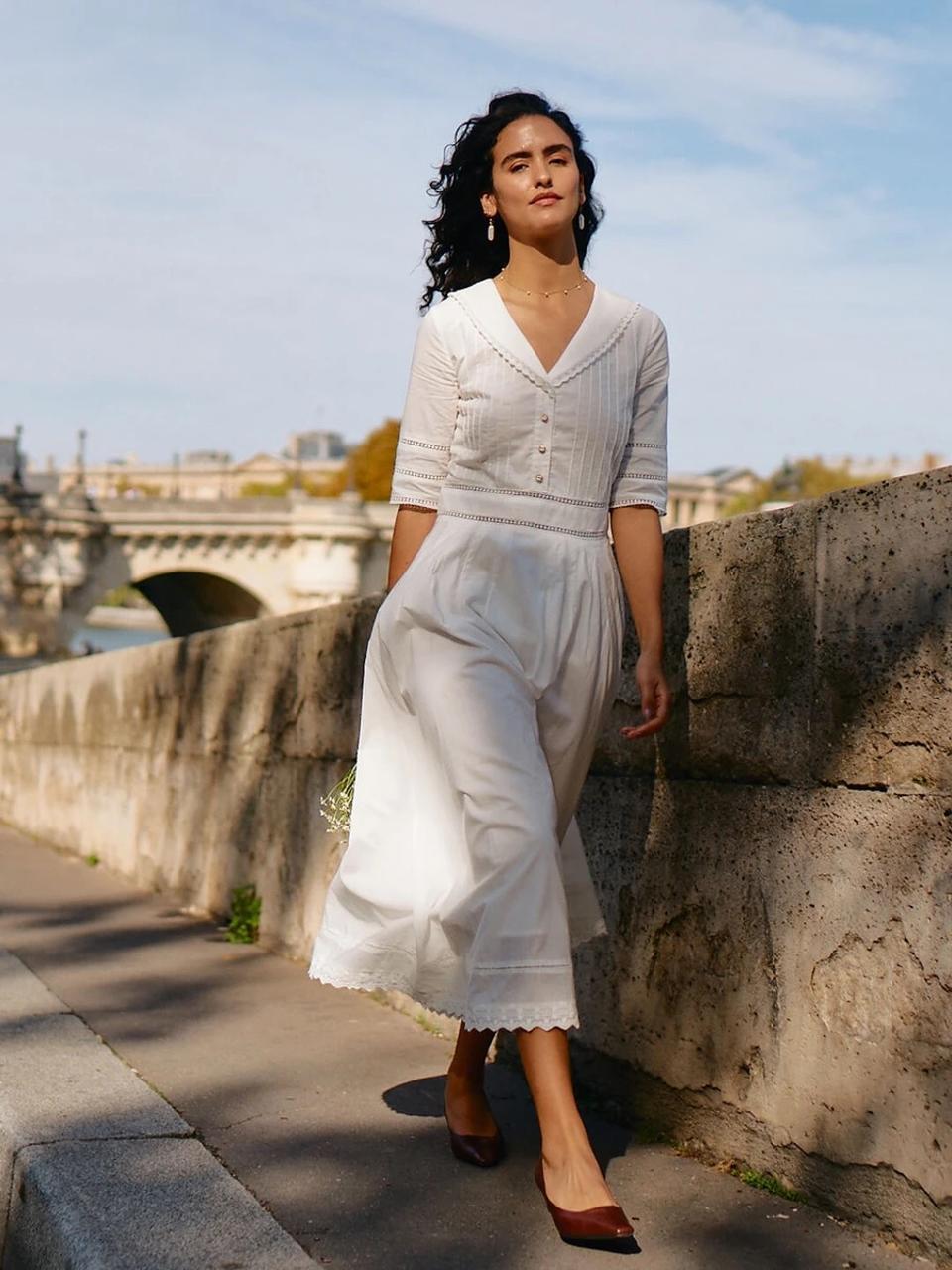 White Fiona dress by SIMPLE RETRO