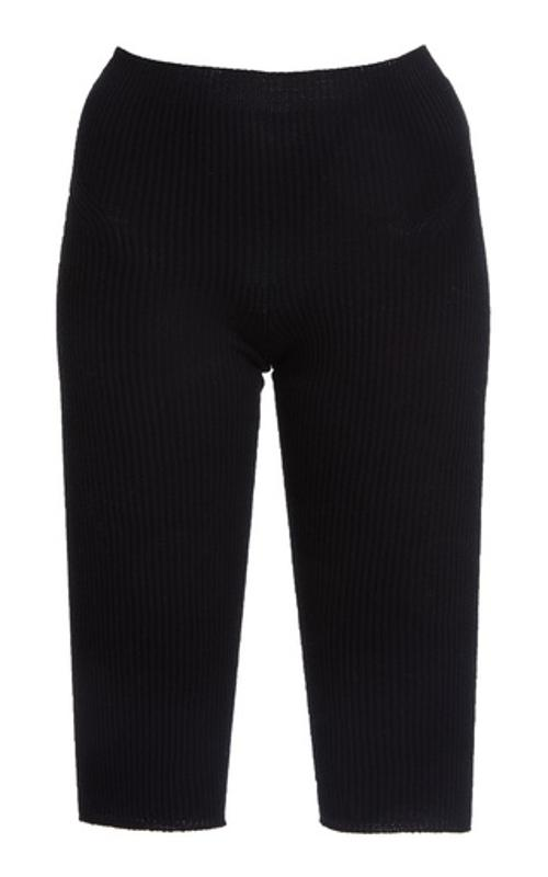 Jacquemus Arancia Ribbed-Knit Knee-Length Shorts