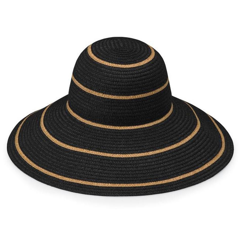 Black wide brim Savannah hat by WALLAROO