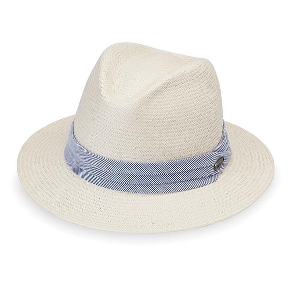 White Monteray Fedora hat by WALLAROO