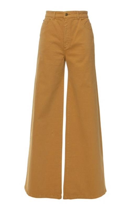 Lena Hoscheck Boogie Stretch High-Rise Wide Leg Jeans