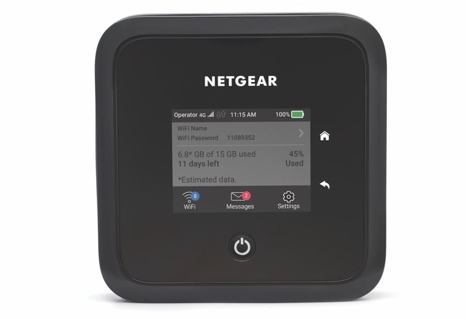 Front view of Netgear Nighthawk 5G mobile router