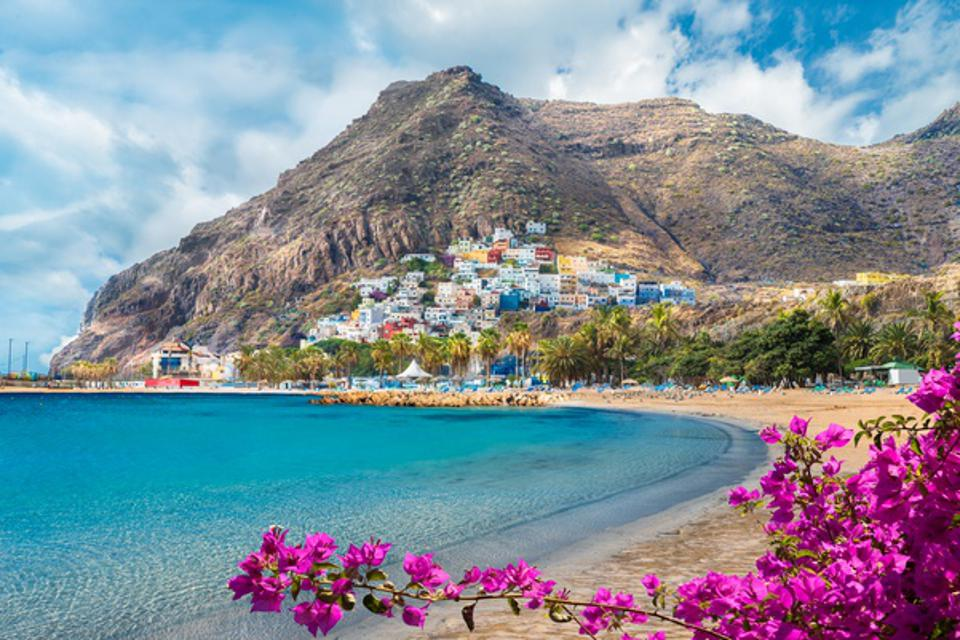 Landscape with Las Teresitas beach in Canary Islands Spain