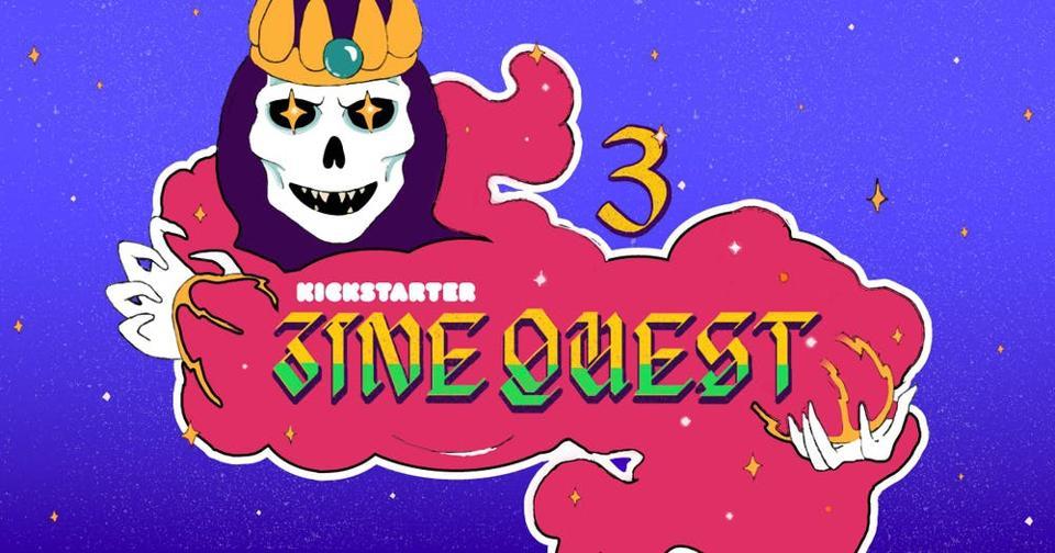 The logo for Kickstarter's Zine Quest