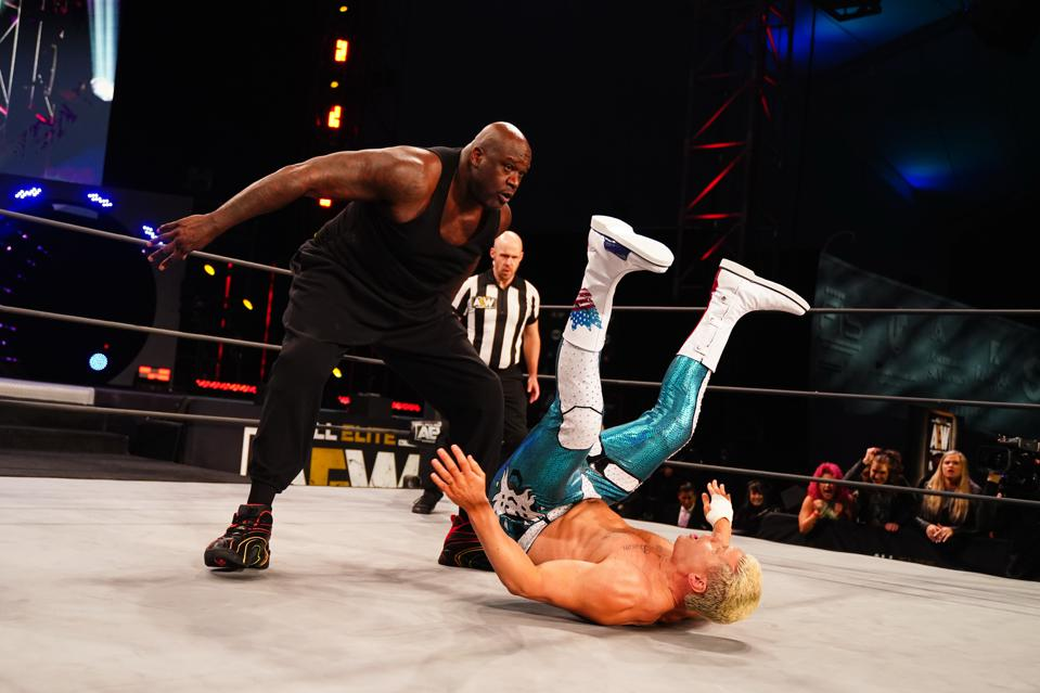 Shaq made his AEW debut against Cody Rhodes and Red Velvet.