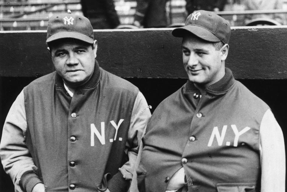 Babe Ruth Lou Gehrig 1929
