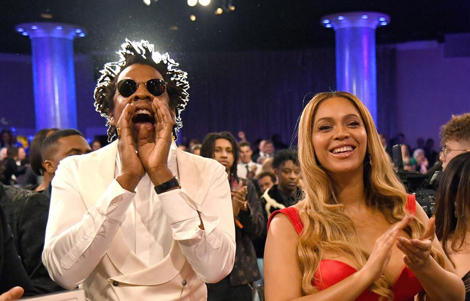 Beyoncé and Jay-Z attend the Grammy Salute to Industry Icons in January 2020.