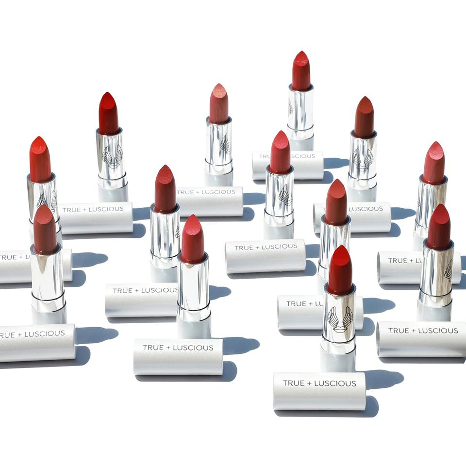 True + Luscious lipsticks in a variety of shades.