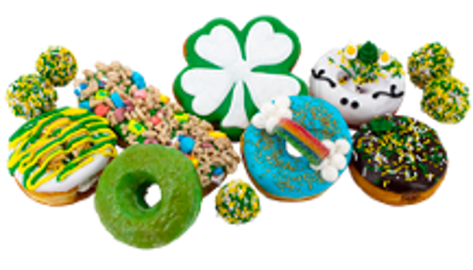 Green donuts and bars for St. Patrick's from Pinkbox.