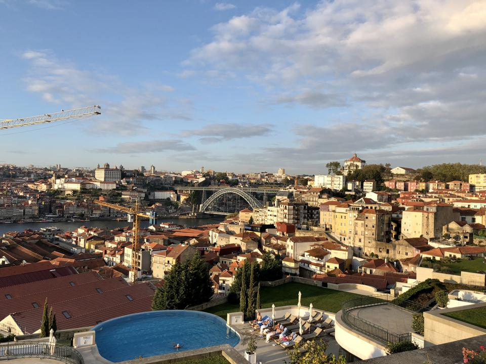 The Yeatman hotel in Vila Nova de Gaia has stunning views over Porto, Portugal