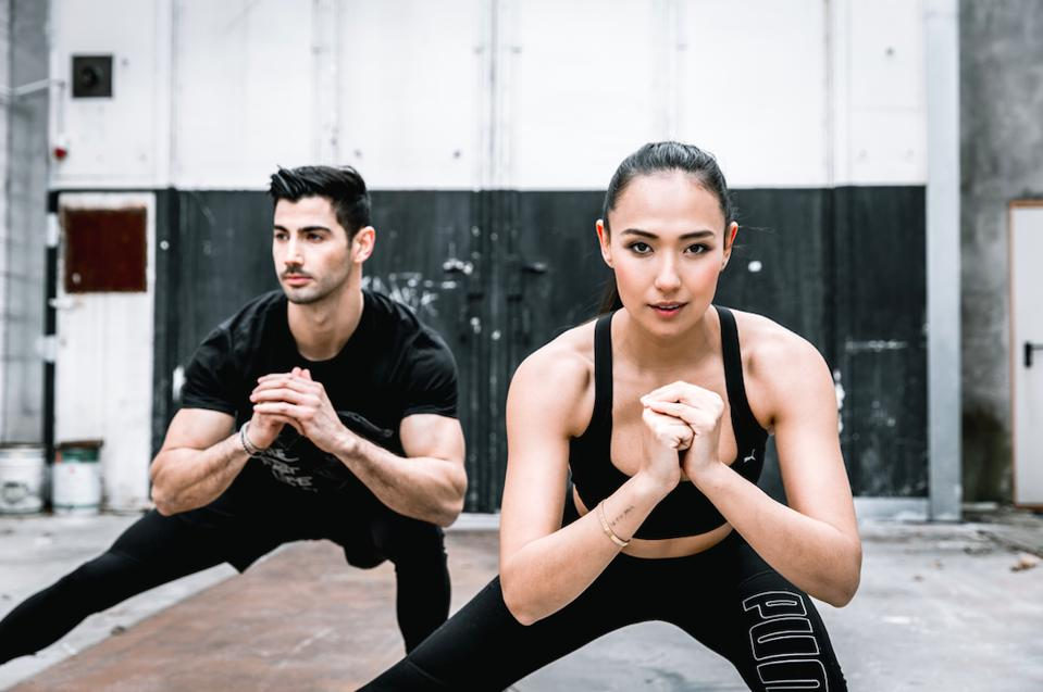 Taylor and Justin Norris, cofounders of LIT Method, exercise