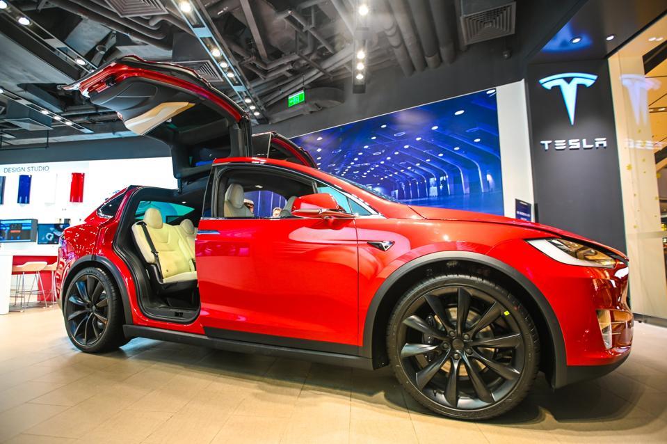 Tesla Flagship Store In Shanghai
