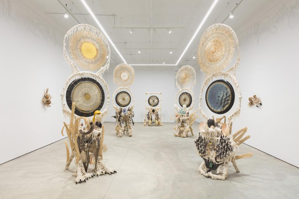An installation view of Guadalupe Maravilla's Seven Ancestral Stomach