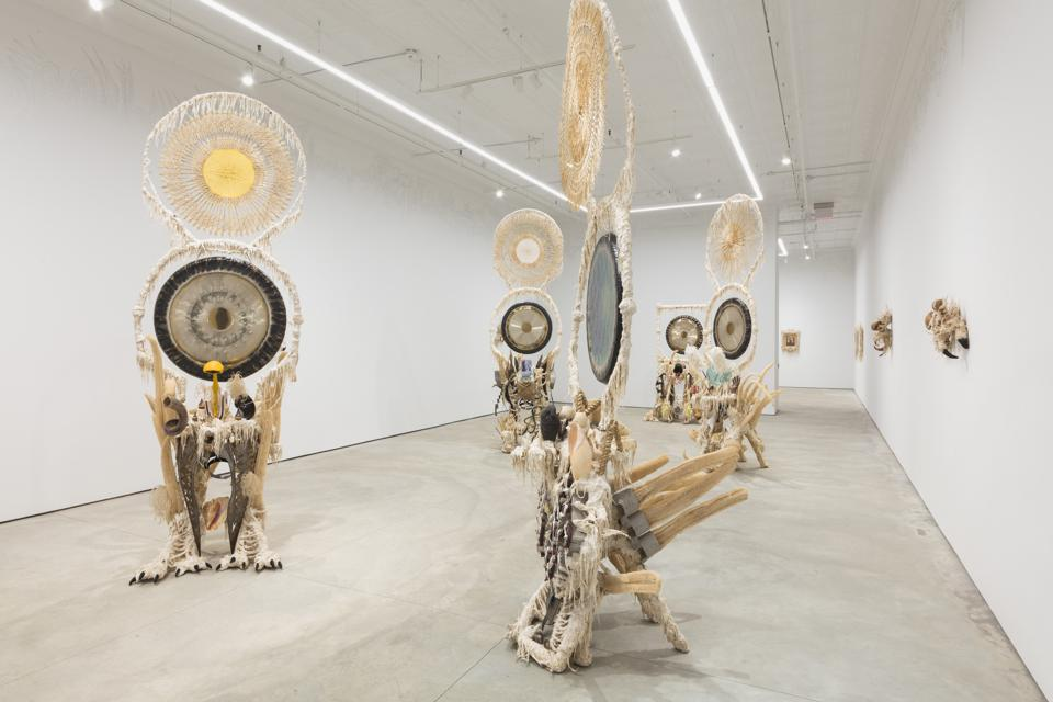 Installation view of Guadalupe Maravilla's Seven Ancestral Stomachs, February 26 – March 27, 2021