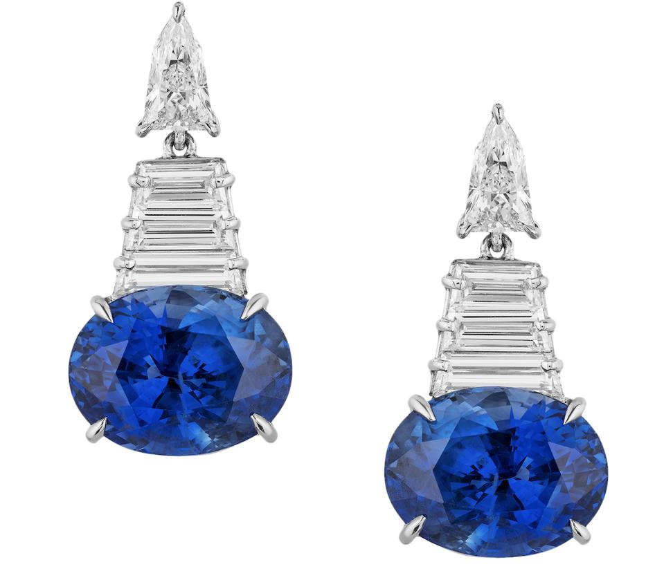 Piranesi Masterpiece Platinum, 18K White Gold Drop Earrings, Sapphire & Diamonds Description: Piranesi Masterpiece Platinum, 18K White Gold, Sapphire & Diamond Drop Earrings, $ 242,000