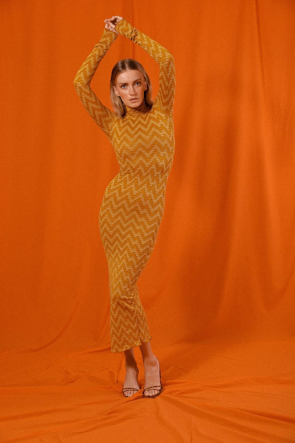 SAÏNT MOJAVÏ The Leon Longsleeve Dress