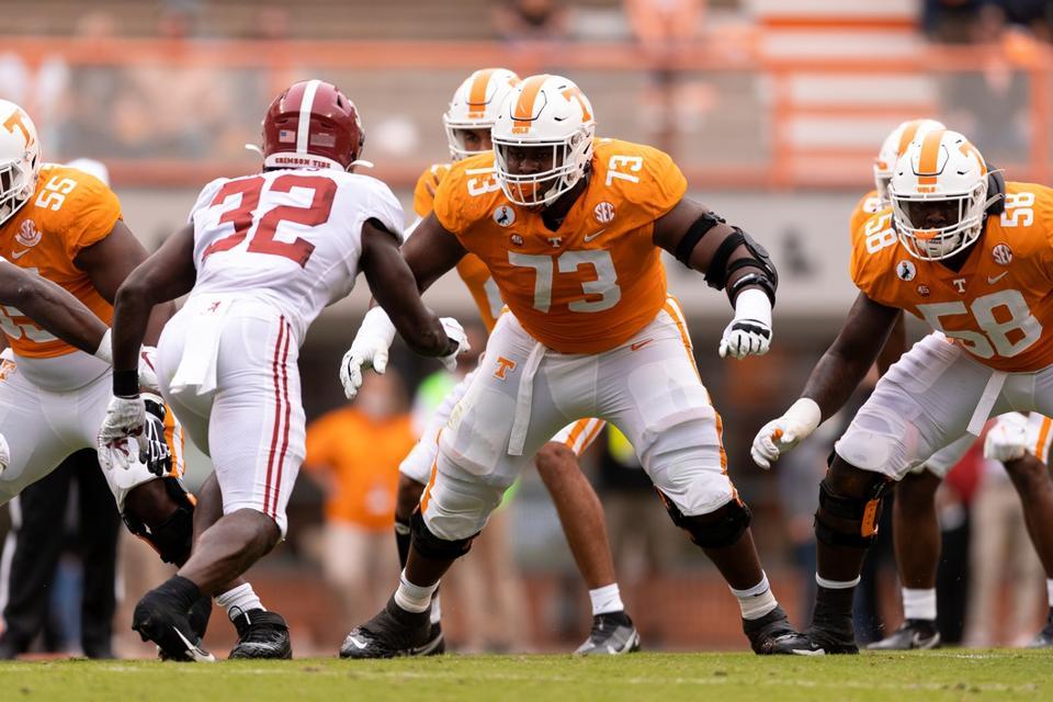 Tennessee guard Trey Smith against Alabama