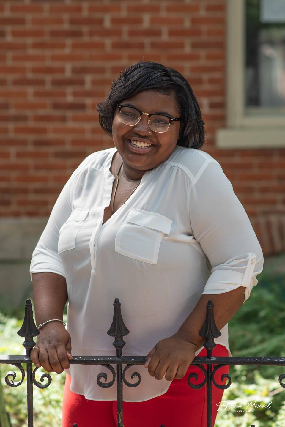 Future educator Aariyah Johnson in downtown Denver