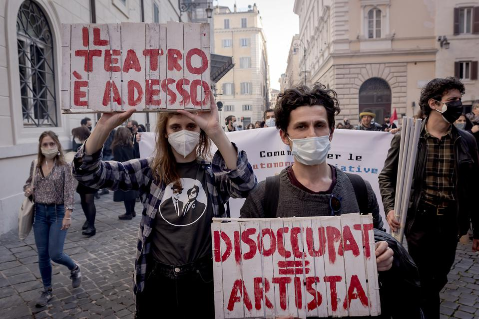 National Protest Of The Performing Arts And Culture Workers Italy