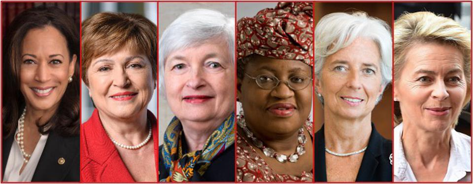 Public Sector's Leading Ladies: US VP, Heads of the World Bank, the US Federal Reserve, the WTO, the European Central Bank and the European Commission