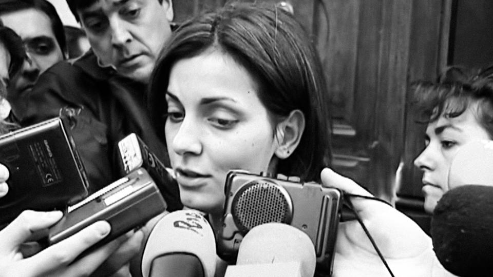 News footage of Nevenka Fernández