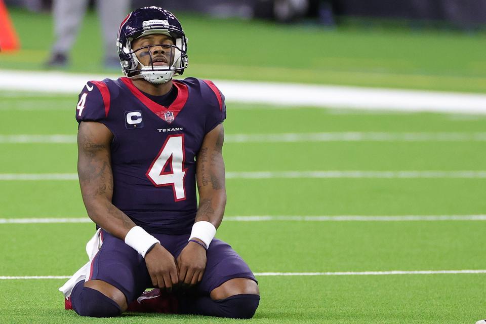 Texans QB Deshaun Watson against the Titans.