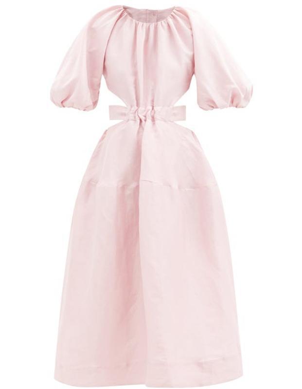 Mimosa Open-Back Linen-Blend Dress by Aje