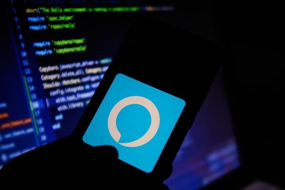 Amazon Alexa logo on smartphone as skills comes under renewed privacy focus