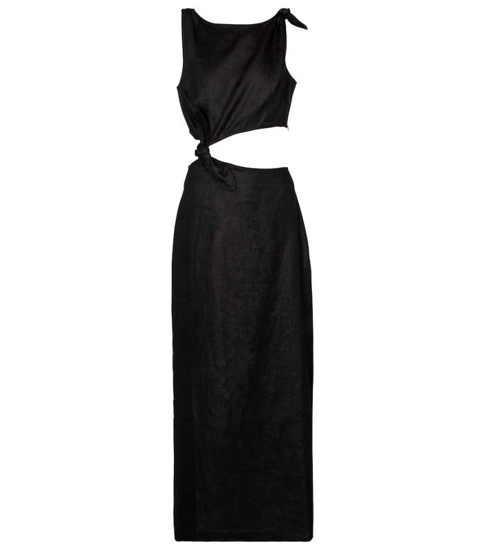 Ambroise Cut-Out Linen Midi Dress by SIR