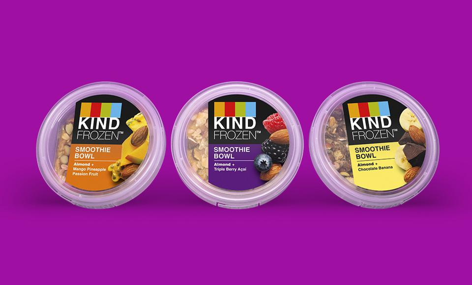 KIND Snacks has recently entered the frozen smoothies category.