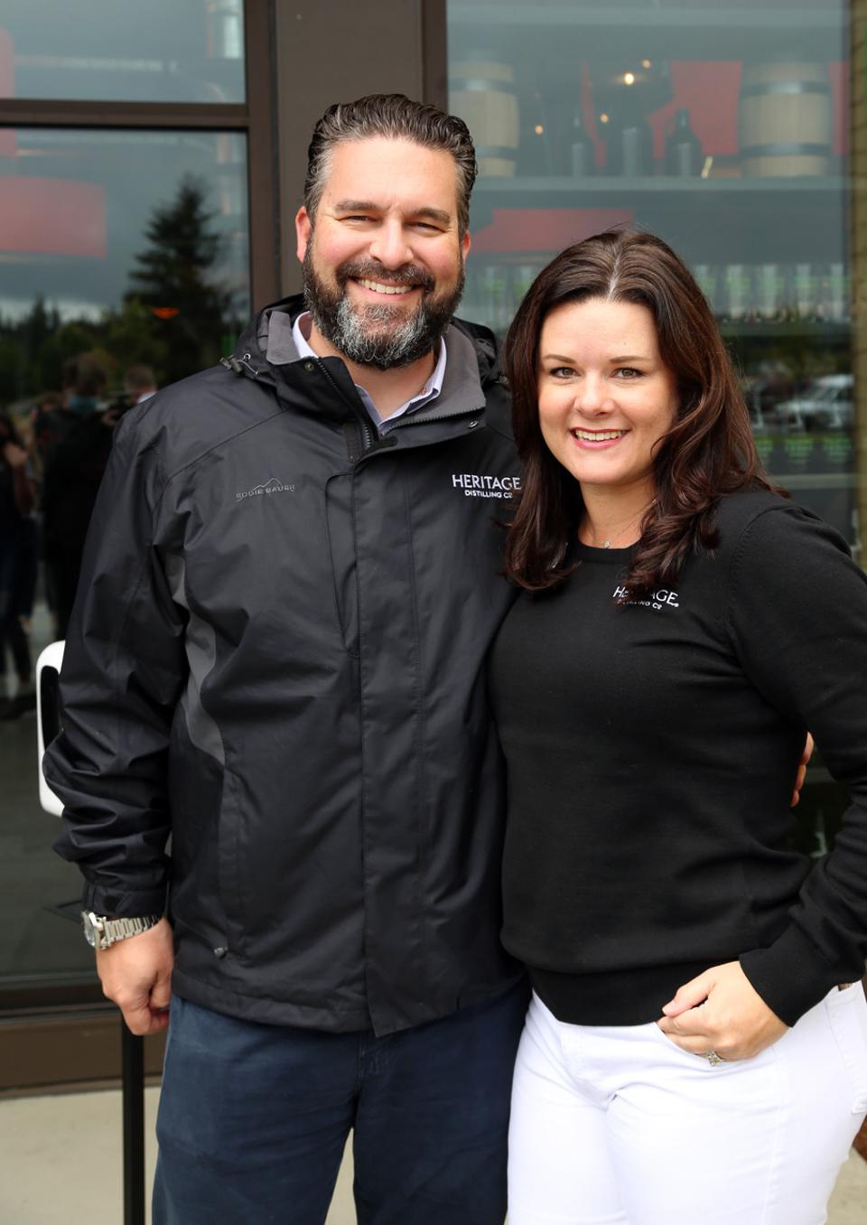 Heritage Distilling Co., owners Justin and Jennifer Stiefel are looking to go global.