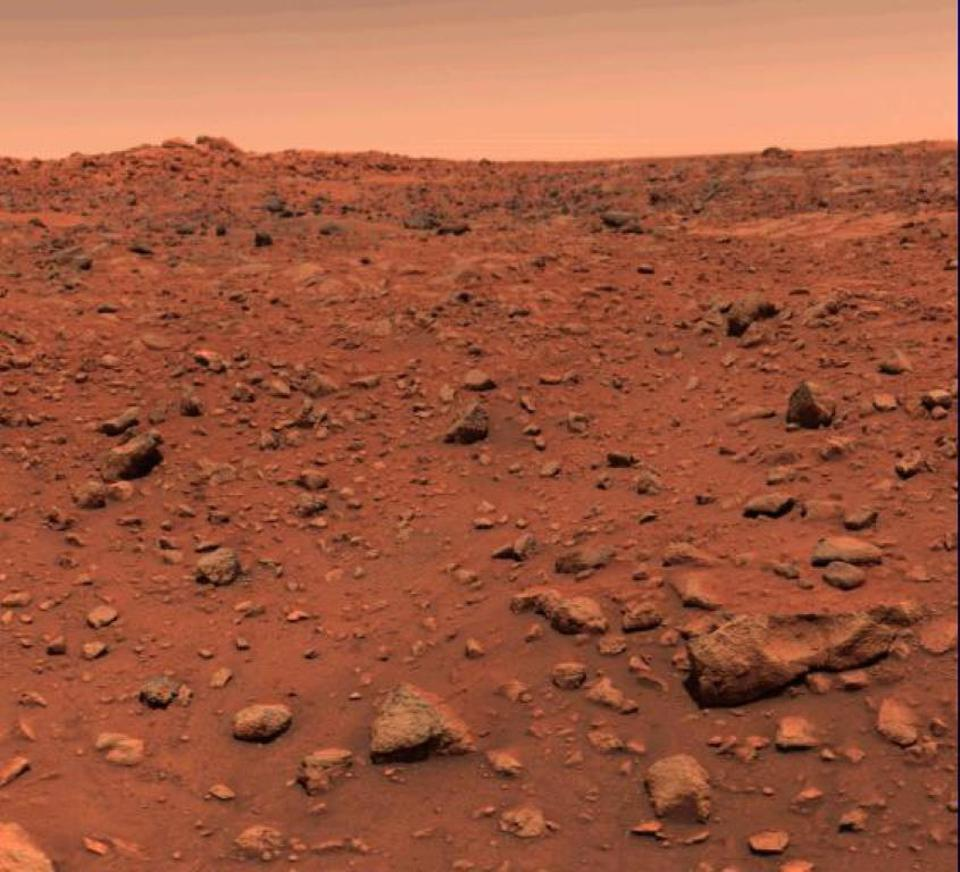 This was the first color image ever returned from the surface of Mars.