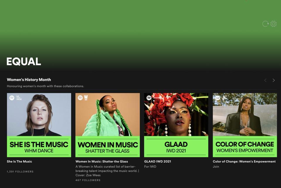 Spotify EQUAL Hub